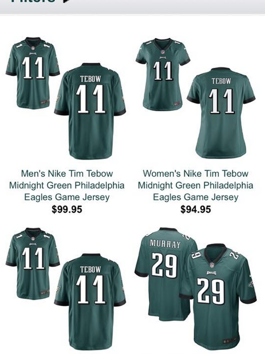 tim tebow eagles jersey