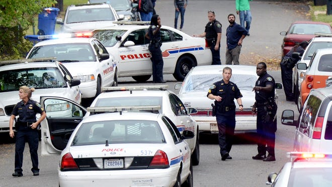 Eleven units responded to a fight on Rutherford Tuesday afternoon.