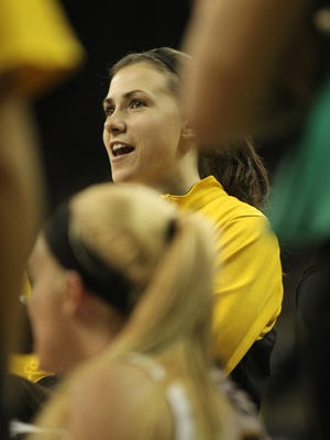 """People don't understand how important she is to our team,"" Iowa coach Lisa Bluder said of Kathryn Reynolds. ""She was voted a co-captain because of her great leadership skills, for what she says in the locker room, the way she says things in the locker room and the example that she is academically."""