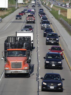 Traffic moves southbound along Interstate 41 near Appleton earlier this year.