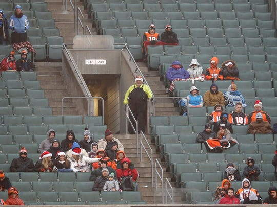 Sections 248 and 249 in the upper bowl remain mostly