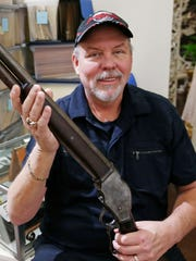John Anderson with Wyatt Earp's shotgun