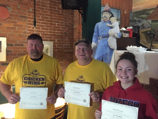 Owego Hose Team Chicken Wing Eating Contest winners