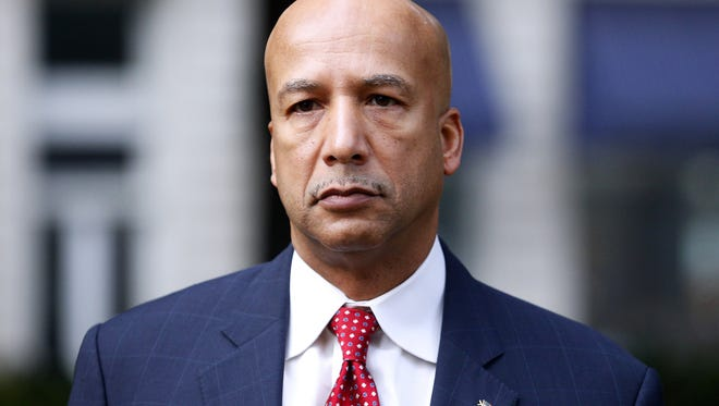 Former New Orleans Mayor Ray Nagin arrives at the Hale Boggs Federal Building in New Orleans on Jan. 27, 2014, for his trial on corruption and bribery charges. On Wednesday, Feb. 12, 2014, he was convicted on 20 of 21 counts.