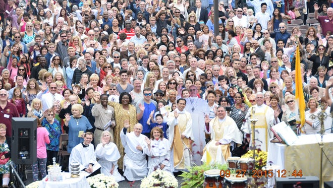 Parishioners at St. Andrew the Apostle celebrated Pope Francis' visit with a family festival Sunday.