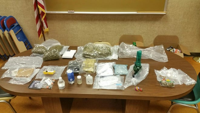Drug recovered from one vehicle during Operation Blue Thunder