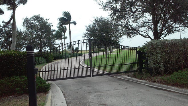 Bridge Road ends at the Hobe Sound Polo Club gate.