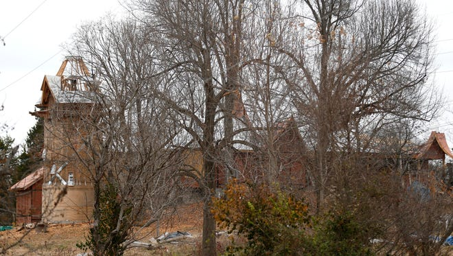 The owner of a house on East Weaver Road did not want to discuss the remodeling project.