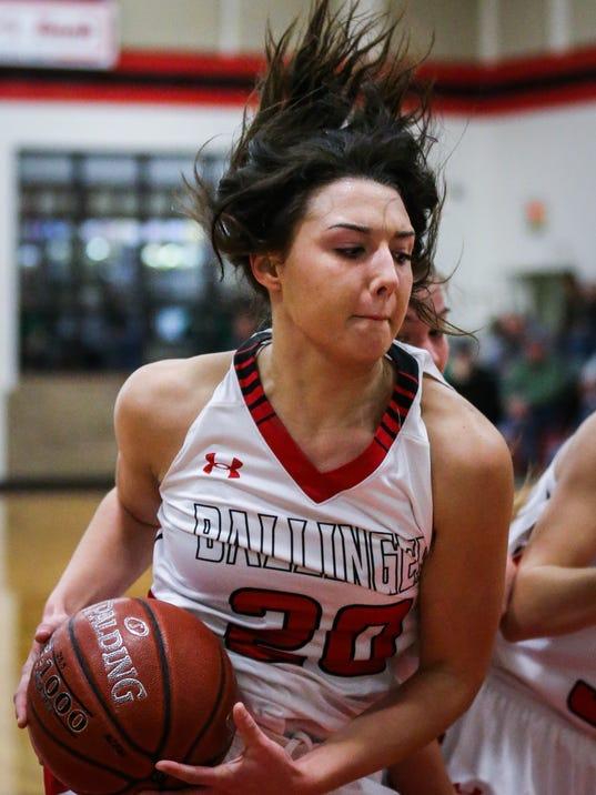 Ballinger vs Wall girls basketball Friday, Jan. 12