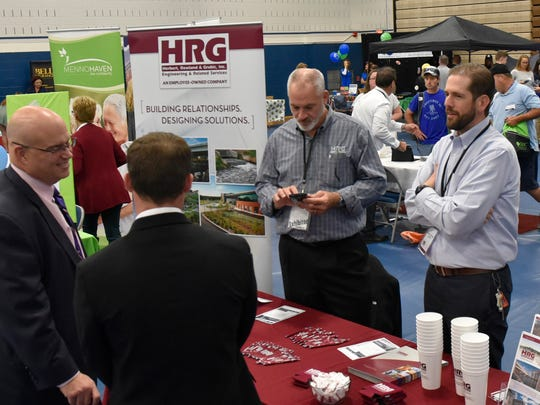 Patrons and vendors interact on Thursday, October 20, 2016 at the Chamber Business & Industry Expo at Penn State Mont Alto.