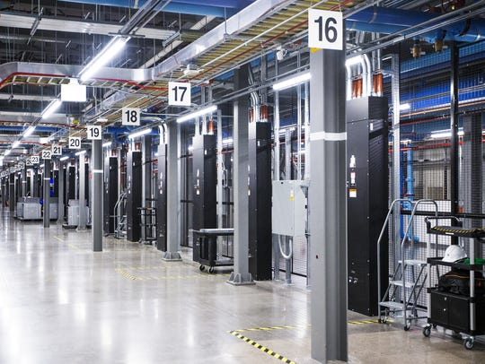 Inside look at a server room at the Apple Data Center
