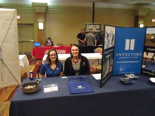 Investors Community Bank at a job fair.