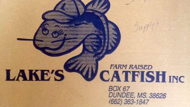 Label from Lake's Farm Raised Catfish