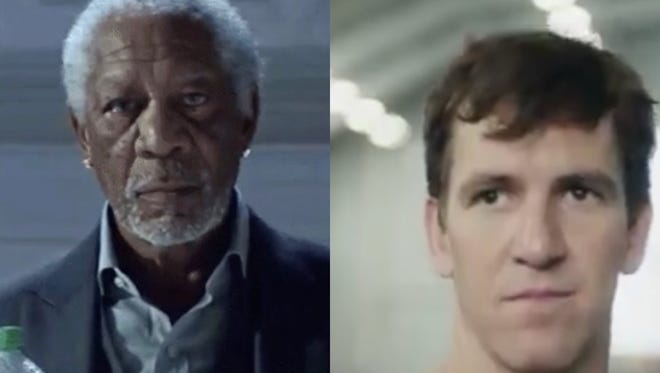 Morgan Freeman and Eli Manning were both stars of popular Super Bowl commercials in 2018.