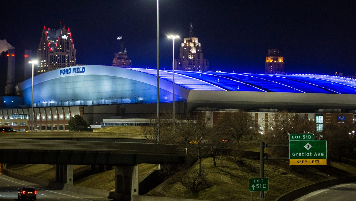 In Petition Ford Field S Nightly Glow Is Called Light