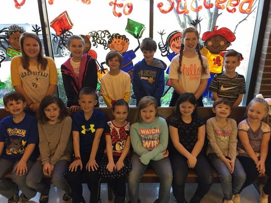 Niagara Elementary March leaders of the month