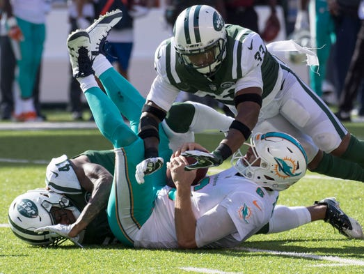 New York Jets cornerback Buster Skrine and strong safety