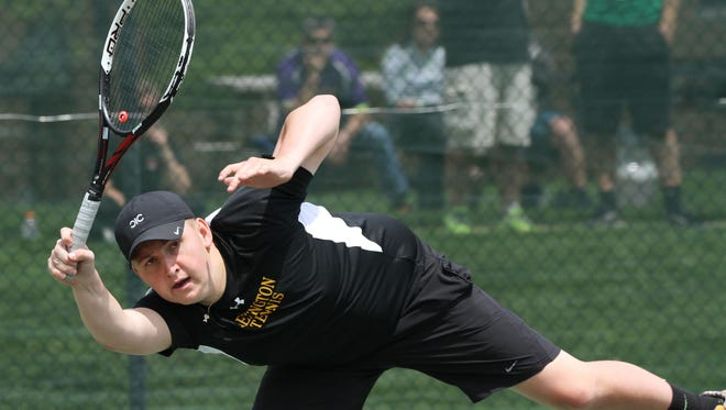 Lexington junior Luke Webster is a two-time state qualifier in doubles.
