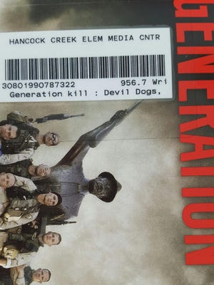 """Changes are underway at Hancock Creek Elementary School's media center after a 10-year-old checked out """"Generation Kill: Devil Dogs, Iceman, Captain America, and the New Face of American War."""" The book contains graphic, profane language, and is not recommended for readers under the age of 18."""