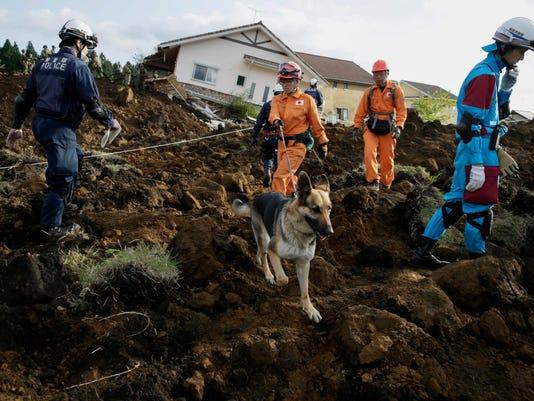 EPA JAPAN EARTHQUAKE KUMAMOTO DIS EARTHQUAKE DISASTERS JPN KU