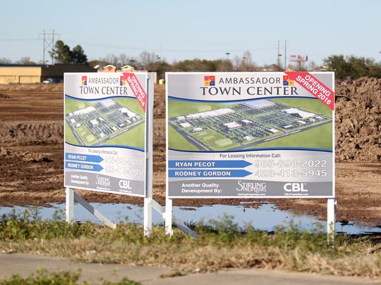 This Advertiser file photo shows work beginning on the Ambassador Town Center anchored by Costco. The development is located near the intersection of Kaliste Saloom Road and Ambassador Caffery Parkway.