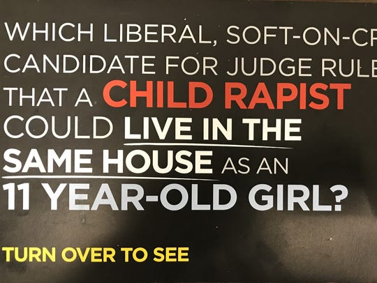 This campaign mailer from judge candidate Nathan Nichols