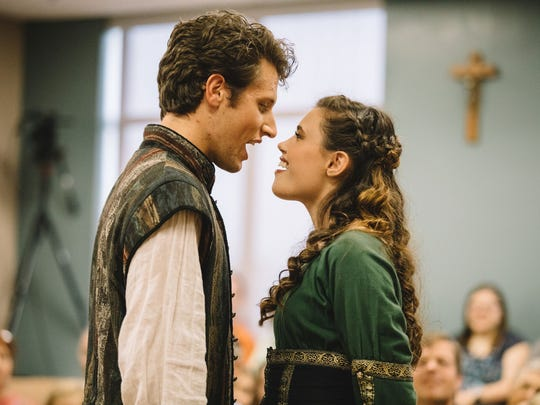 James Barrows played Berowne and Grace Williams portrayed