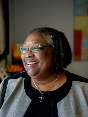 Joan Jackson Johnson, director of Human Relations and Community Services, photographed in her office on Tuesday, Sept. 19, 2017, at City Hall in Lansing.