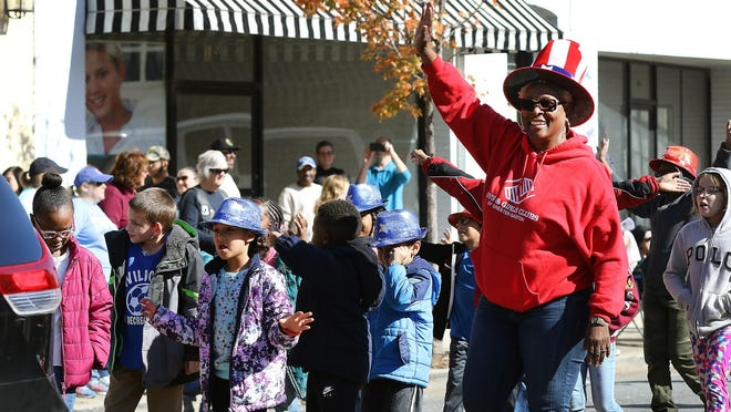 A group from the Boys and Girls Club of Greater Gaston marched in the 2019 Veterans Day Parade through downtown Gastonia. This year, there will not be a Veterans Day parade.