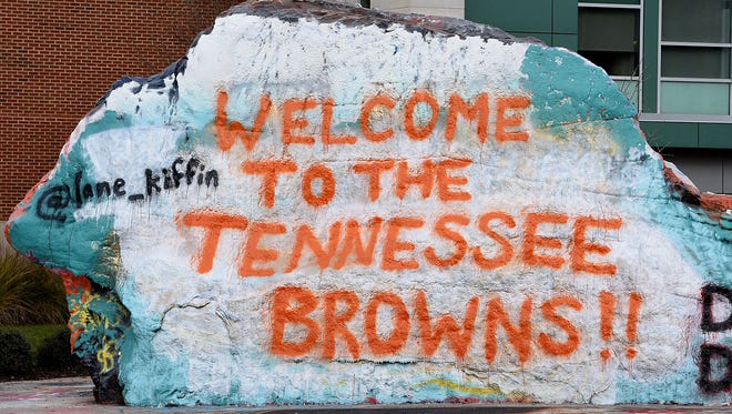 The Rock on the UTK campus the morning the news broke  that AD John Currie had been fired Friday, Dec. 1, 2017.