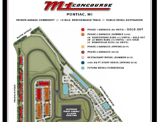 Map of the future M1 Concourse