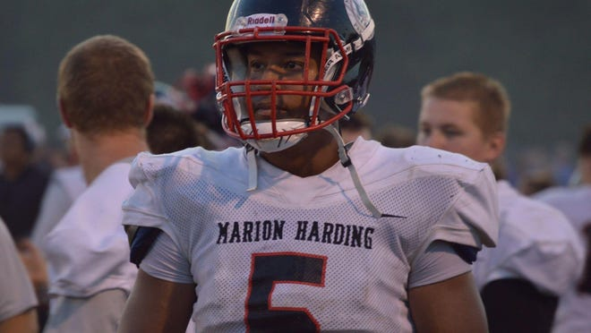 Marion Harding senior Drake Facione recorded an area-high 20 sacks this season and was named to the Division II first team in the Central District.
