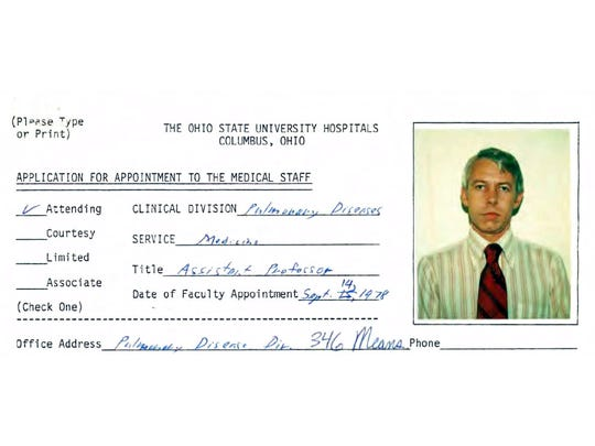 This file photo shows a 1978 employment application