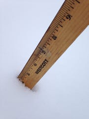 Make sure to start with a clear table or board for the most-accurate snowfall measurement.