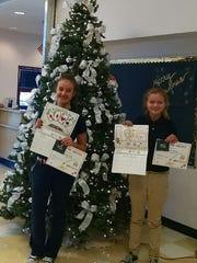 Ruidoso Middle School stuidents Ashley Flack and Sierra