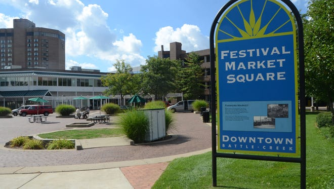 Construction on Festival Market Square, home of the Battle Creek Farmers Market Association, is scheduled to begin Wednesday morning as crews start a project to redesign the area into an enhanced outdoor gathering space.