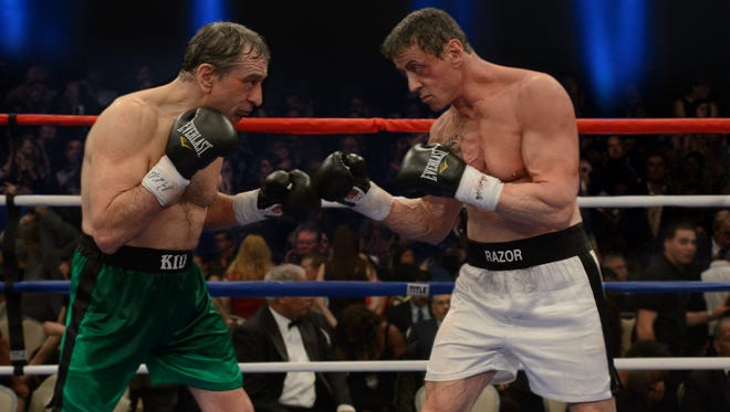 """Robert De Niro as Billy """"The Kid"""" McDonnen, left, and Sylvester Stallone as Henry """"Razor"""" Sharp, go head-to-head in """"Grudge Match."""""""
