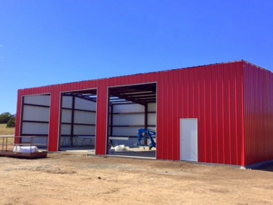 The new Nogal Volunteer Fire Department substation named the Abi Ann Station, was under construction at the time of this photo.