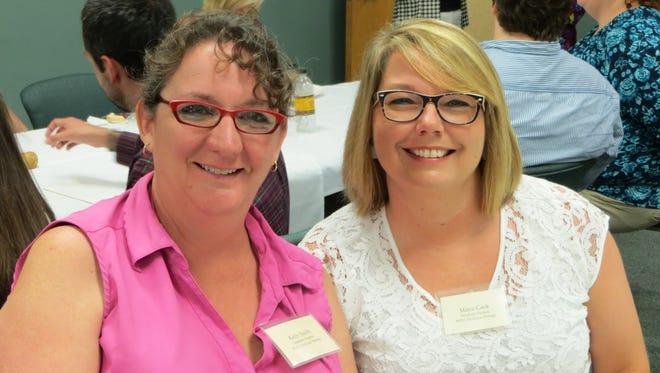 Kelly Smith and Maria Cook are students in the inaugural class in USM's Master of Education in Dyslexia Therapy program at USM.