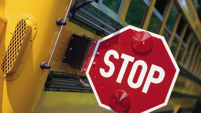 A school bus accident in Marlboro hurt two Biotechnology High School students Wednesday.