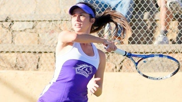 WNMU senior Ashley Newell won, 6-1, 6-3, Wednesday over her Eastern opponent at the No. 1 spot in singles play.