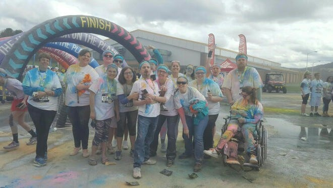 A team from Franziska Racker Centers participated in the 2016 Color Run in Binghamton.