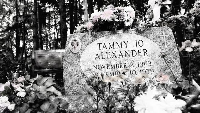 Tammy Jo Alexander's gravestone, put at her burial site after her identification.