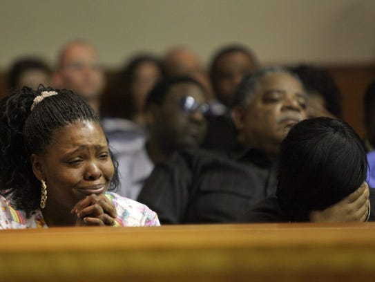 Relatives of Jeffrey Bordeaux Jr. react to the not-guilty