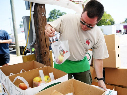 Brandon Metcalf, of Coston Farm and Apple House, bags