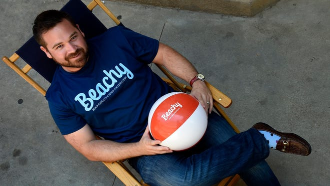 Beachy CEO Matt Houston leads a Nashville company that's launching an app to help people enjoy beach vacations.