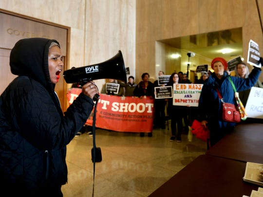 Teressa Raiford, the founder of Don't Shoot Portland,