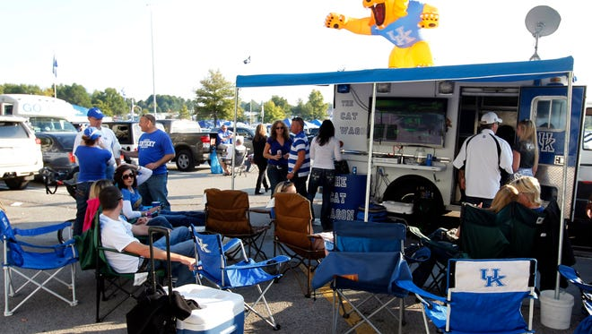 UK fans tailgate before a Sept. 2012 game against South Carolina.