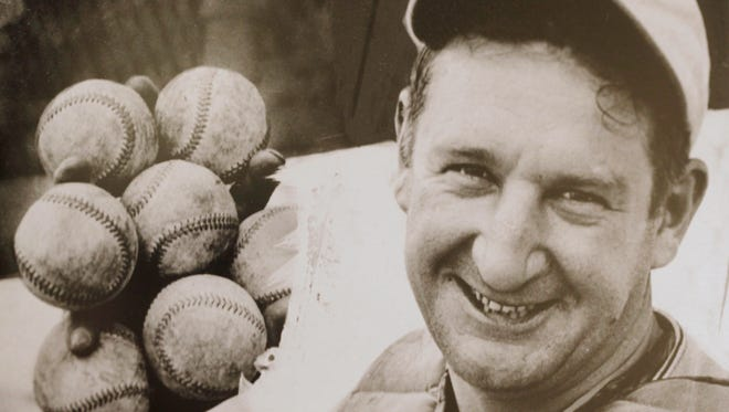 This photo of Ernie Lombardi and 4,000 other baseball artifacts are part of the Green Diamond Gallery in Montgomery.