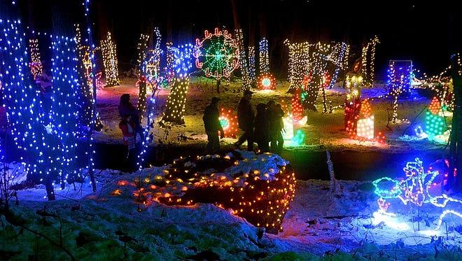 Christmas Magic's half-mile walking trail through Rocky Ridge County Park.